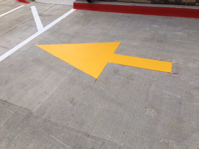 Directional Arrows Striping Parking Lot