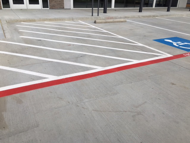 Fire Lane and Handicap Stalls Helotes Texas