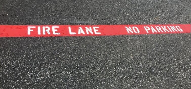 Fire lane striping in your parking lot in Selma, Texas