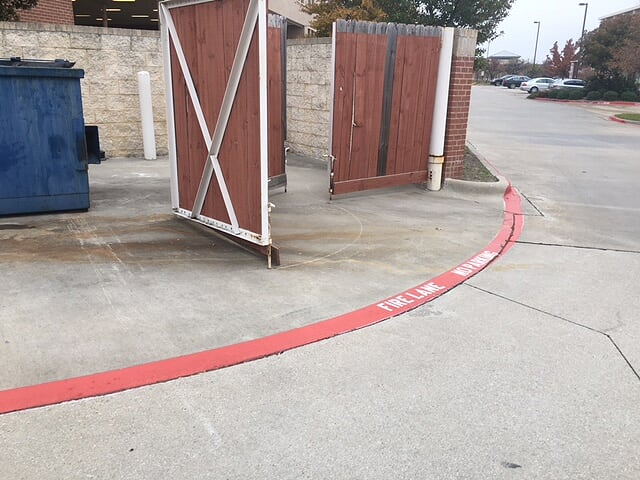 Warehouse and Fire Lane Striping Live Oak TX